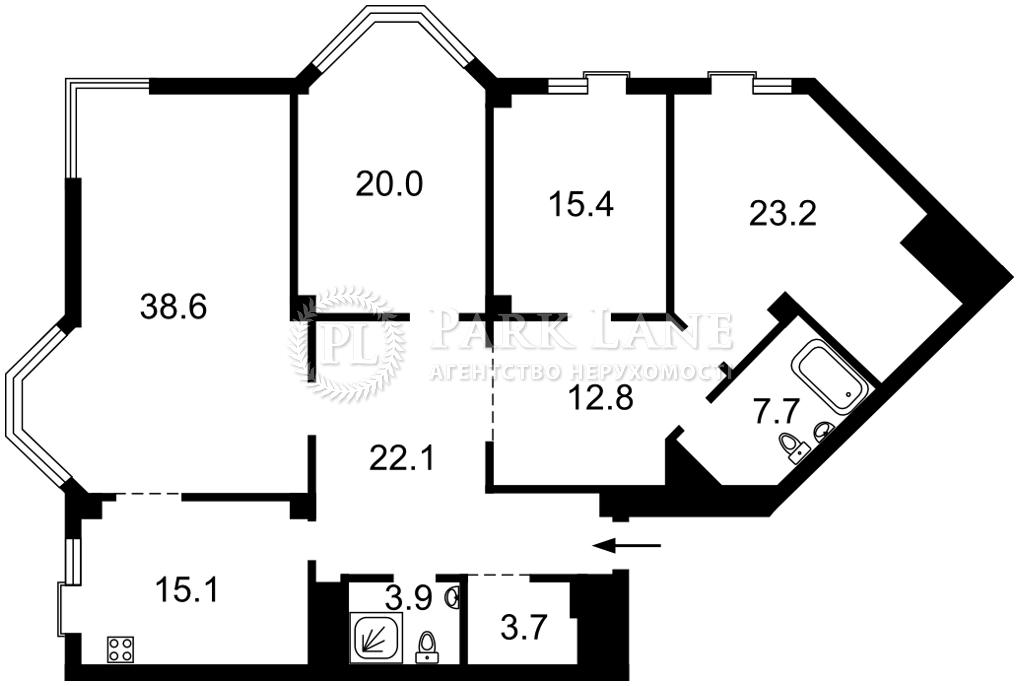 Квартира ул. Ломоносова, 75а, Киев, J-30518 - Фото 2