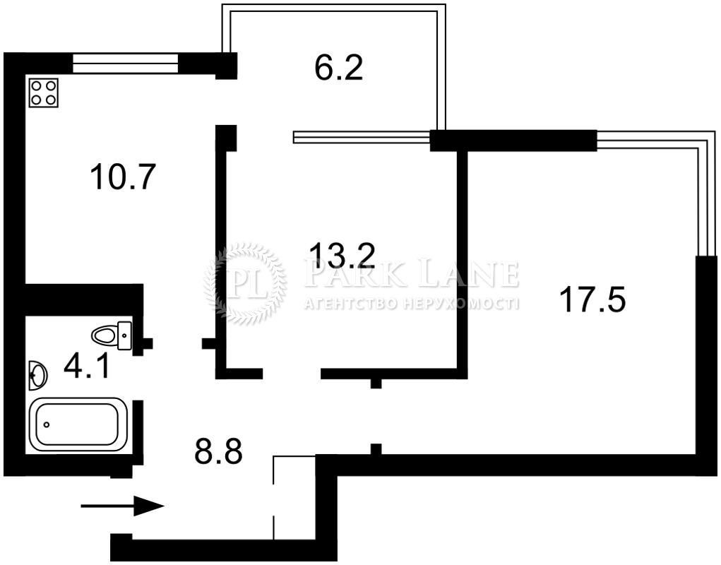 Квартира ул. Петрицкого Анатолия, 21а, Киев, Z-204165 - Фото 2
