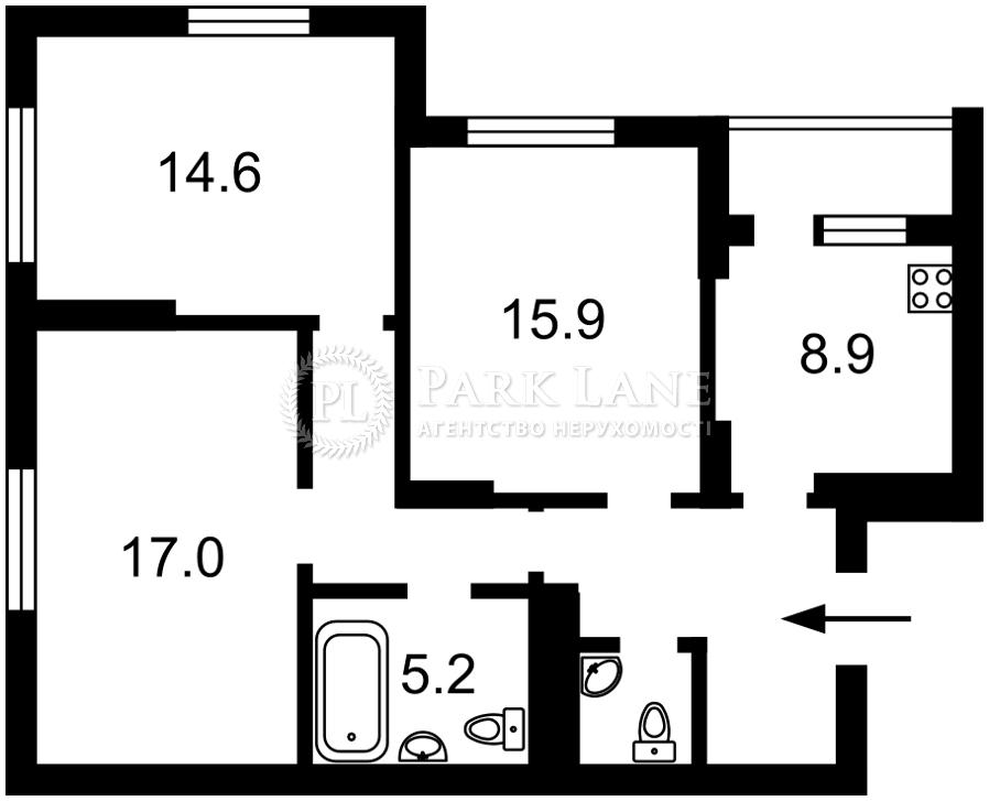 Квартира ул. Хоткевича Гната (Красногвардейская), 8, Киев, R-490 - Фото 2