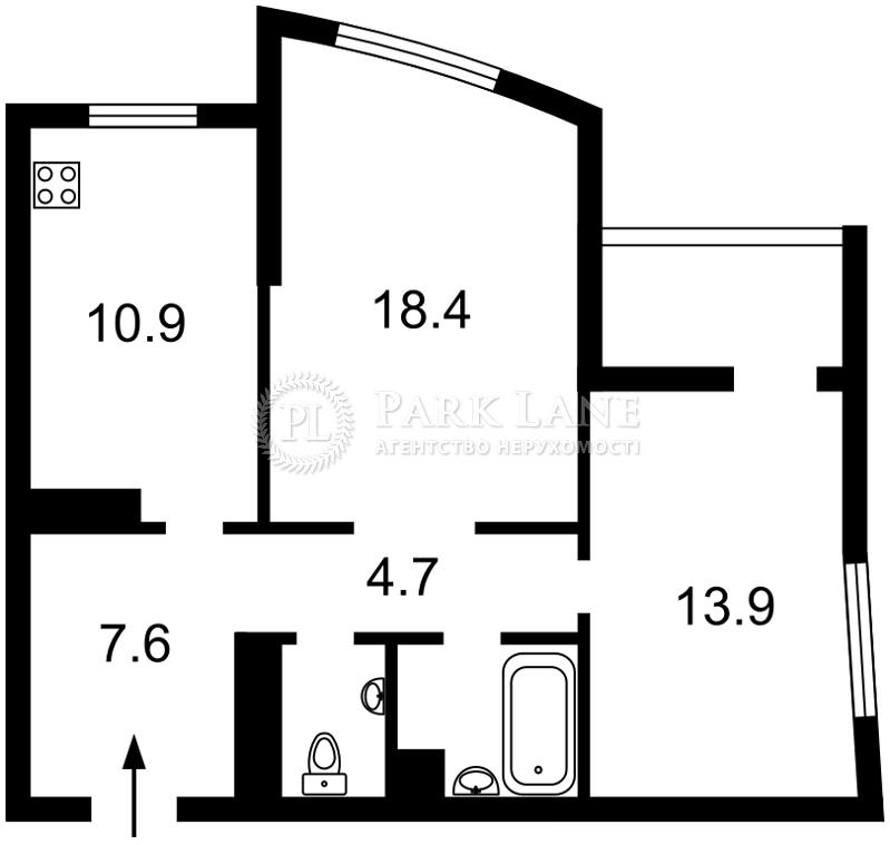 Квартира Оболонский просп., 1 корпус 3, Киев, Z-752749 - Фото 2