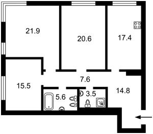 Квартира B-102204, Зверинецкая, 72 корпус 1, Киев - Фото 7