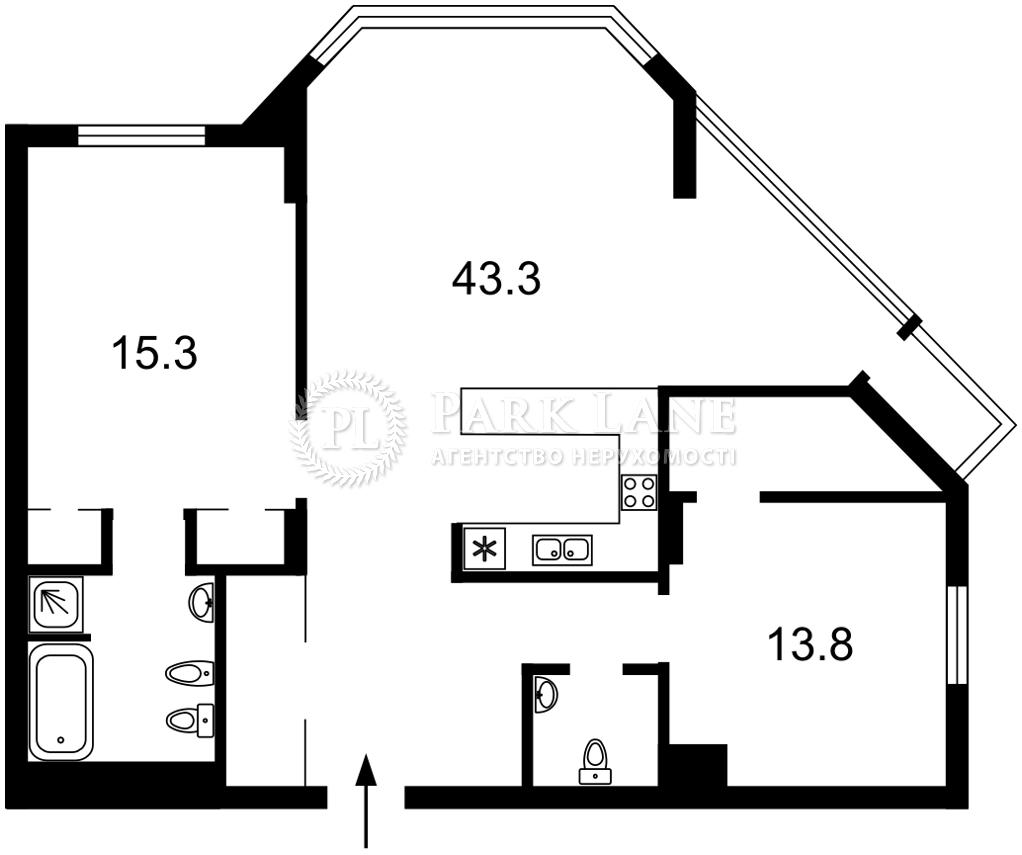 Квартира ул. Болсуновская (Струтинского Сергея), 2, Киев, L-28299 - Фото 2