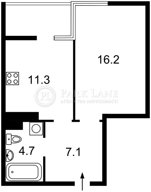 Квартира I-32641, Джона Маккейна (Кудри Ивана), 1б, Киев - Фото 4