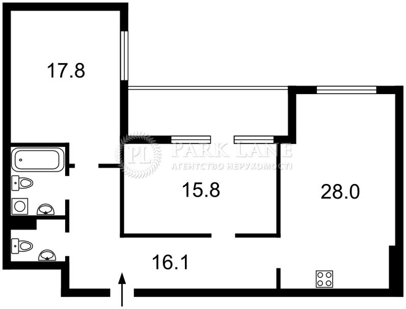 Квартира ул. Предславинская, 55, Киев, B-102299 - Фото 2