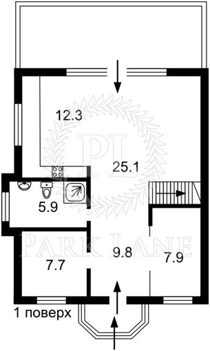 Будинок Центральна, Осещина, Z-767104 - Фото