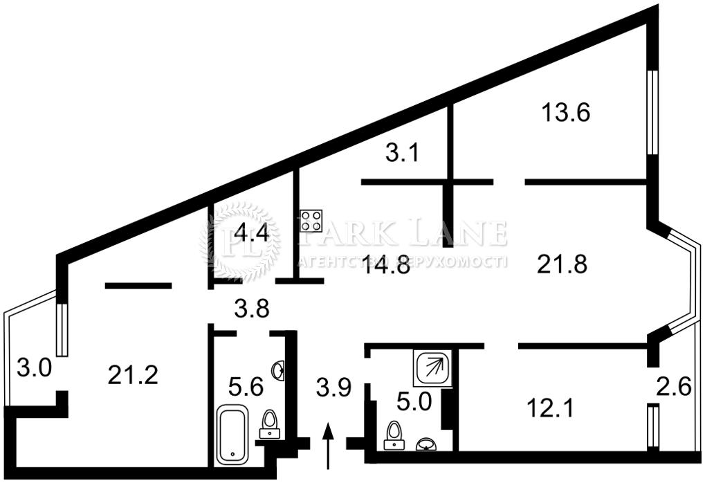 Квартира ул. Липкивского Василия (Урицкого), 37б, Киев, J-30844 - Фото 2