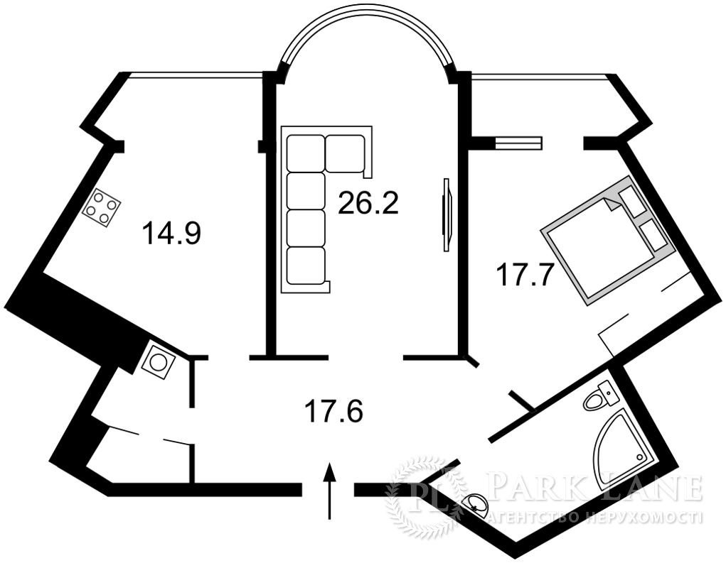Квартира ул. Срибнокильская, 1, Киев, Z-772004 - Фото 2