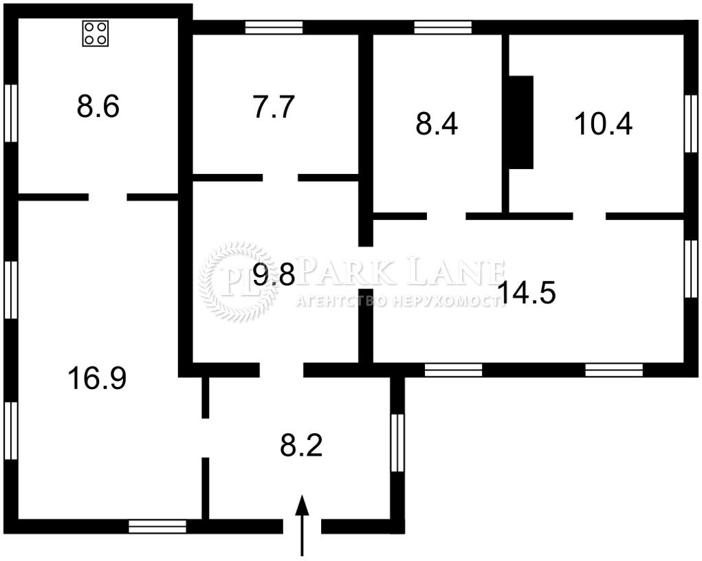 Дом L-28554, Коцюбинского, Погребы (Броварской) - Фото 3