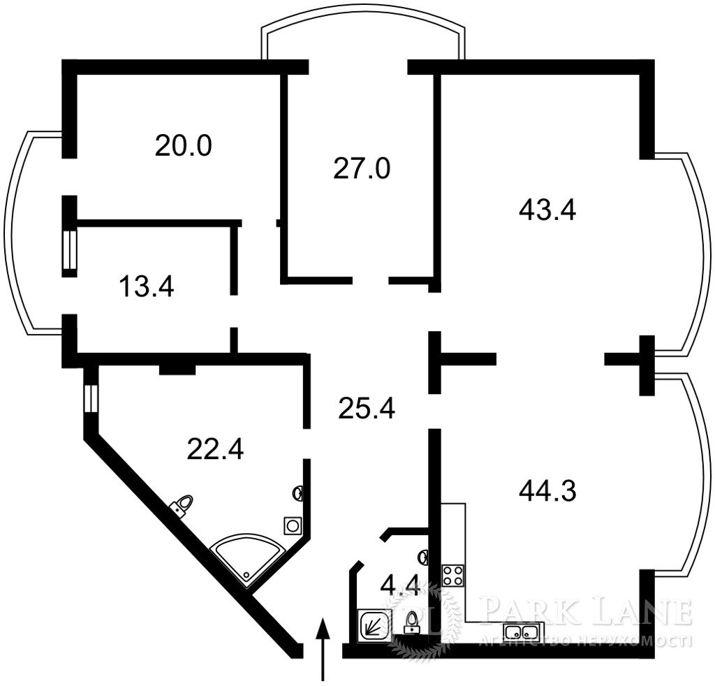 Квартира ул. Антоновича (Горького), 140, Киев, L-28564 - Фото 2