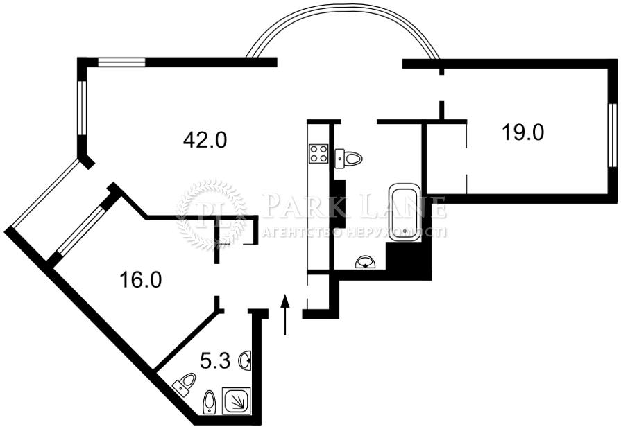 Квартира ул. Вышгородская, 45б, Киев, J-30981 - Фото 2