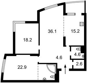 Квартира K-31996, Ушакова Николая, 1в, Киев - Фото 5