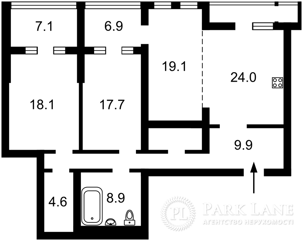 Квартира ул. Саксаганского, 121, Киев, B-102519 - Фото 2
