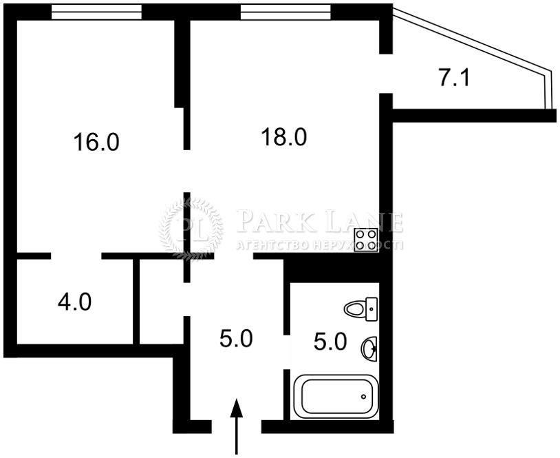 Квартира ул. Бойчука Михаила (Киквидзе), 41-43, Киев, Z-778387 - Фото 2