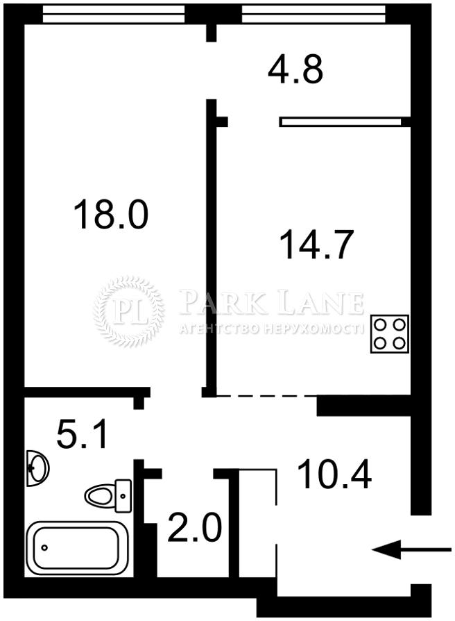 Квартира вул. Причальна, 5 корпус 5, Київ, B-102642 - Фото 2