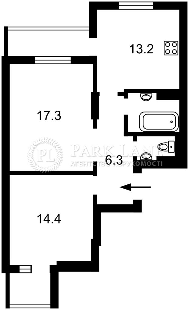 Квартира ул. Кустанайская, 13 корпус 1, Киев, R-39350 - Фото 2
