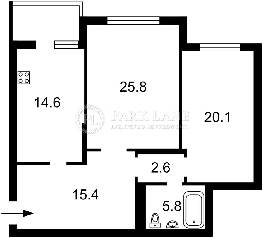 Квартира ул. Драгоманова, 31б, Киев, R-39564 - Фото 2