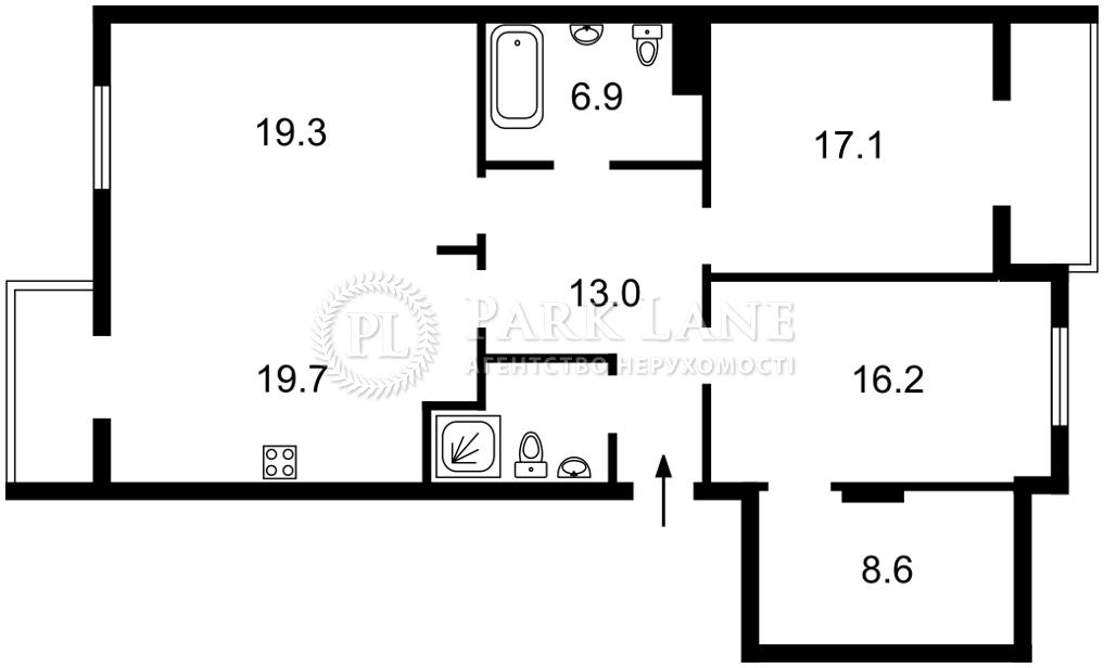 Квартира ул. Коновальца Евгения (Щорса), 36б, Киев, L-22757 - Фото 2