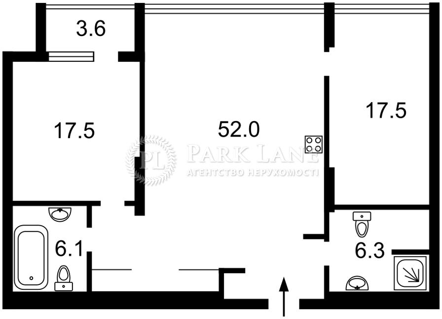 Квартира ул. Коновальца Евгения (Щорса), 44а, Киев, Z-791529 - Фото 2