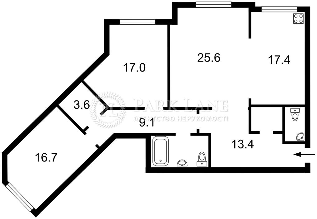 Квартира ул. Срибнокильская, 1, Киев, J-31297 - Фото 2
