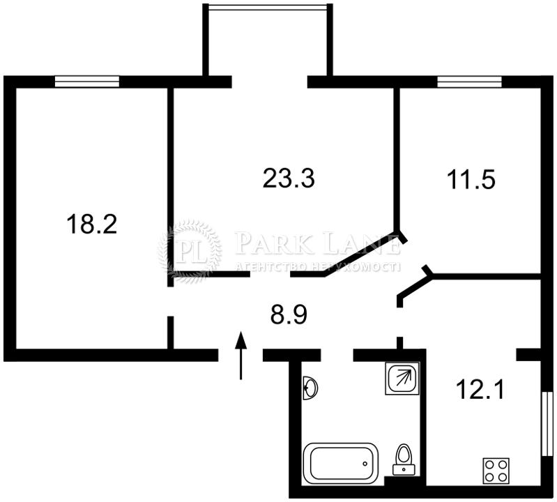 Квартира ул. Грушевского Михаила, 34/1, Киев, Z-742287 - Фото 2