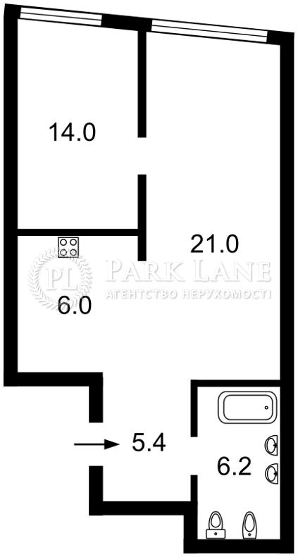Квартира ул. Заречная, 4 корпус 2, Киев, Z-791514 - Фото 2