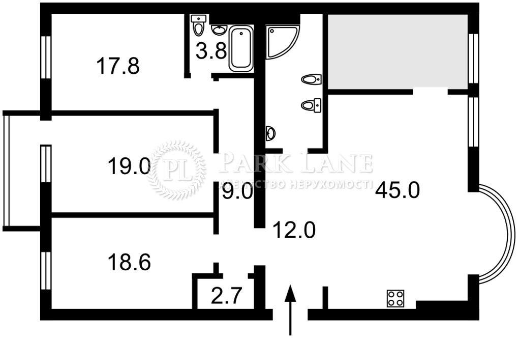 Квартира ул. Черновола Вячеслава, 25, Киев, Z-774947 - Фото 2