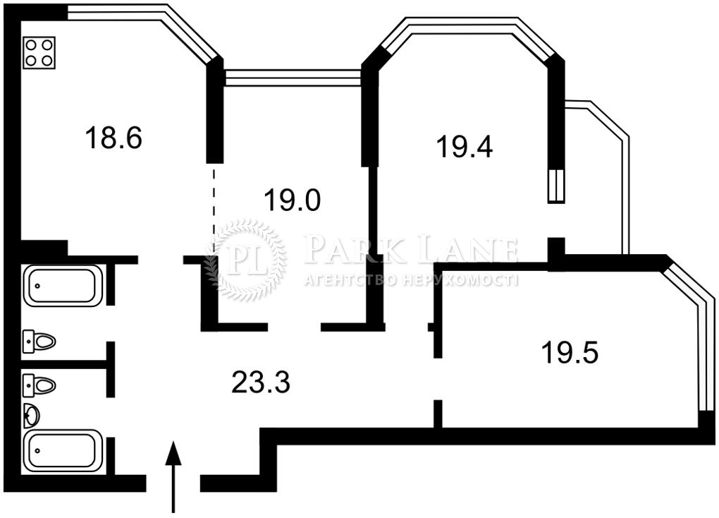 Квартира ул. Коновальца Евгения (Щорса), 34а, Киев, Z-796659 - Фото 2