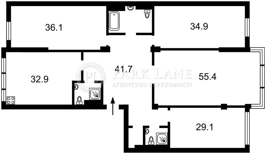 Квартира ул. Грушевского Михаила, 9а, Киев, I-33522 - Фото 2