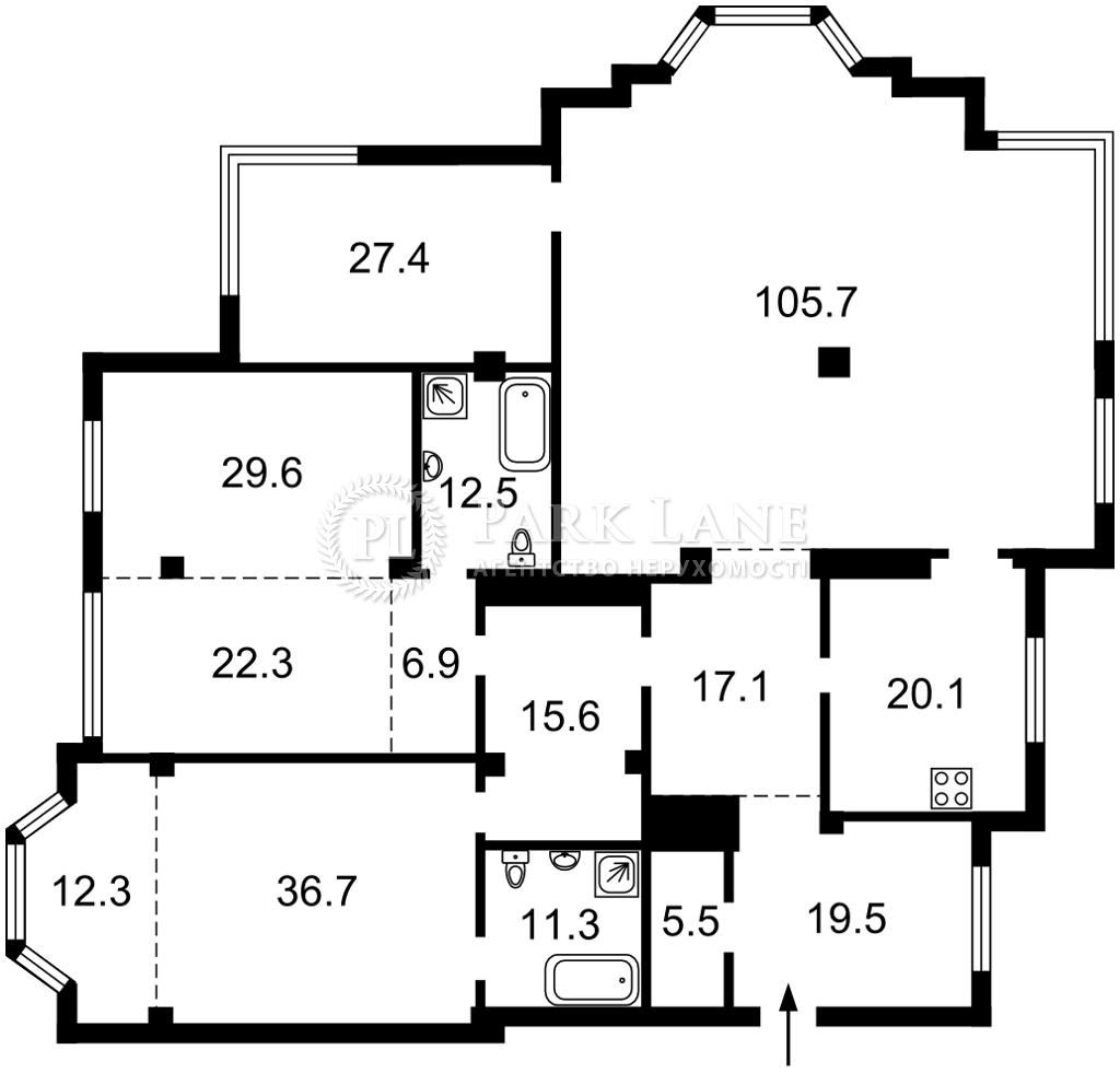Квартира K-32304, Грушевского Михаила, 9а, Киев - Фото 5