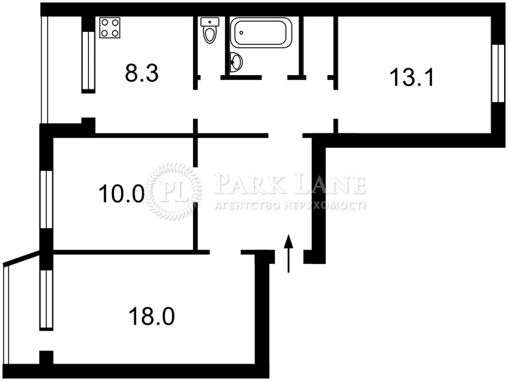 Квартира Маяковского Владимира просп., 65, Киев, R-37882 - Фото 2
