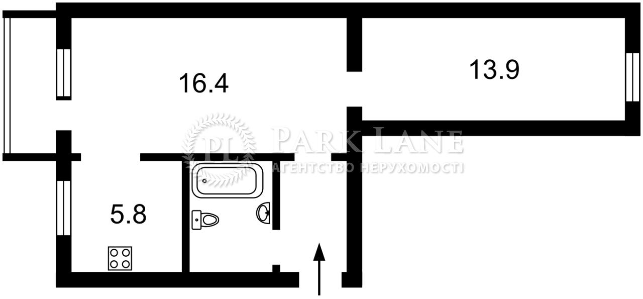 Квартира ул. Попова Александра, 4/2, Киев, I-33625 - Фото 2
