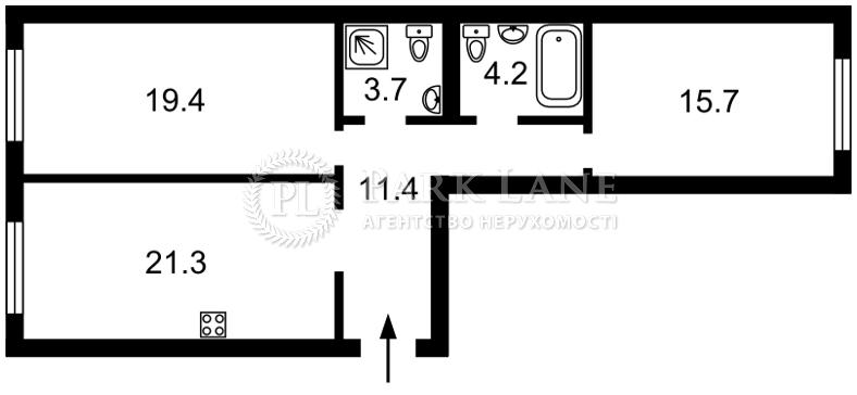 Квартира Тверской тупик, 7б, Киев, K-32705 - Фото 2