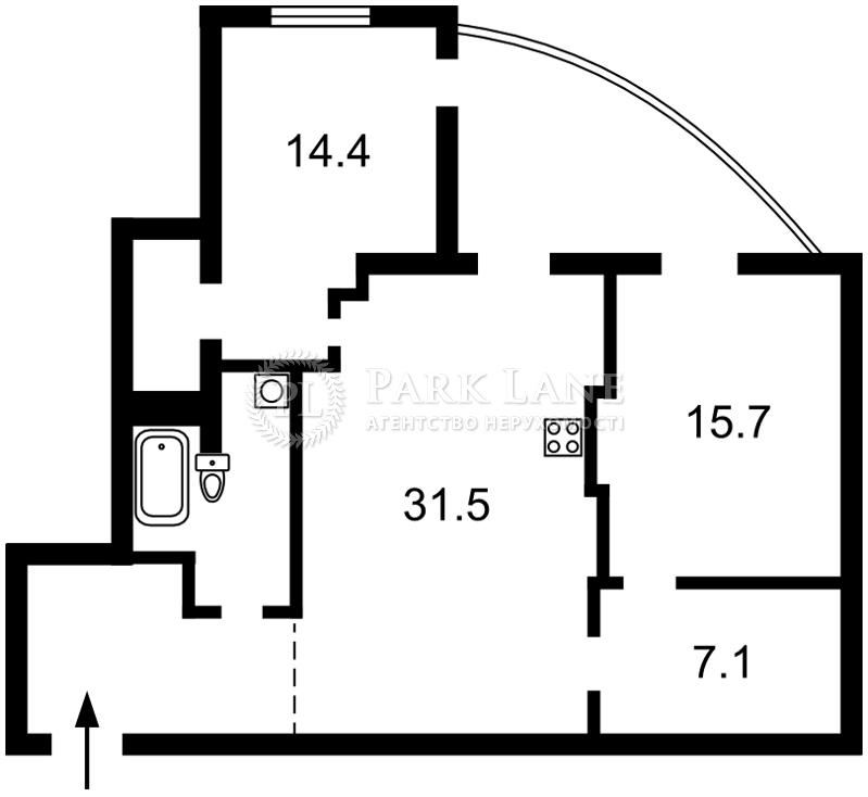 Квартира вул. Антоновича (Горького), 14б, Київ, I-29475 - Фото 2