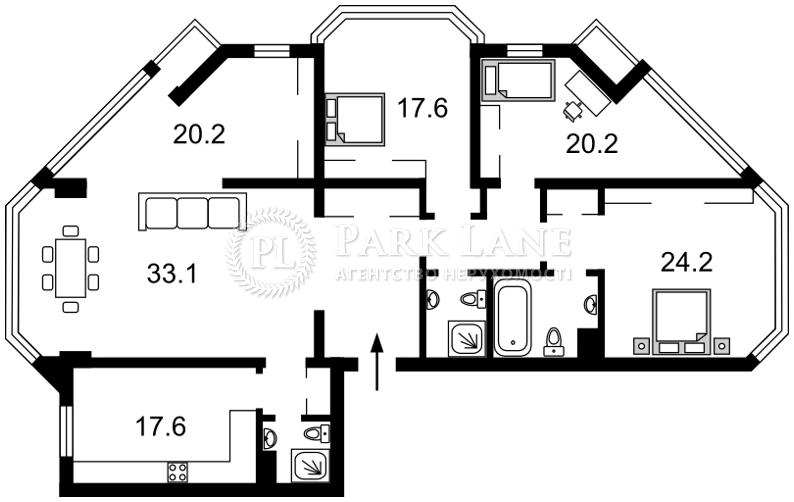 Квартира ул. Болсуновская (Струтинского Сергея), 2, Киев, N-20763 - Фото 2