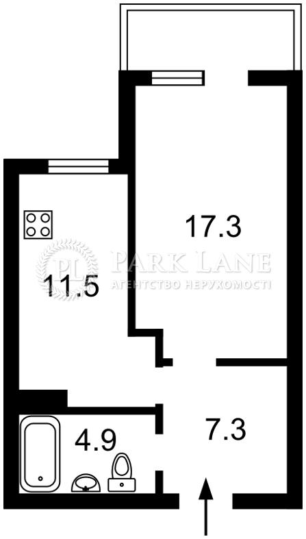 Квартира Комарова Космонавта просп., 20а, Киев, Z-583241 - Фото 2