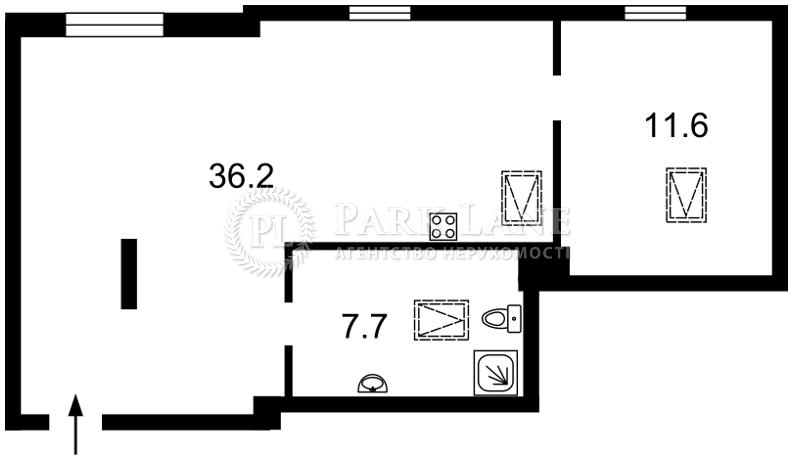 Квартира вул. Мазепи Івана (Січневого Повстання), 3, Київ, J-28443 - Фото 2