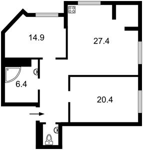 Квартира B-100160, Героев Сталинграда просп., 2г корпус 2, Киев - Фото 6