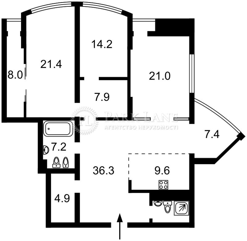 Квартира ул. Глубочицкая, 32а, Киев, I-31234 - Фото 2