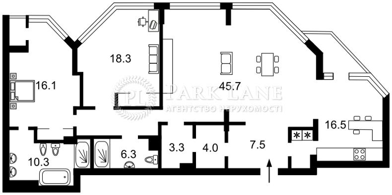 Квартира ул. Болсуновская (Струтинского Сергея), 2, Киев, B-101796 - Фото 2