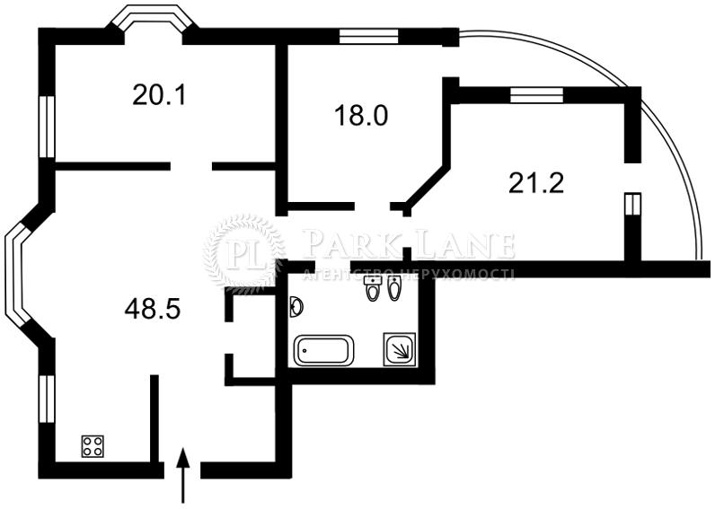 Квартира ул. Лысенко, 2а, Киев, B-101887 - Фото 2