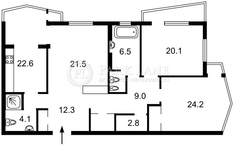 Квартира ул. Сечевых Стрельцов (Артема), 52а, Киев, L-28381 - Фото 2