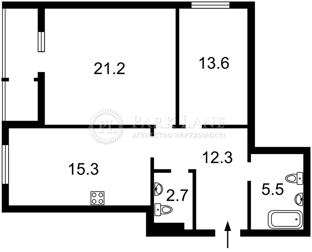 Квартира Приборный пер., 10 корпус 1/2, Киев, J-31145 - Фото 2