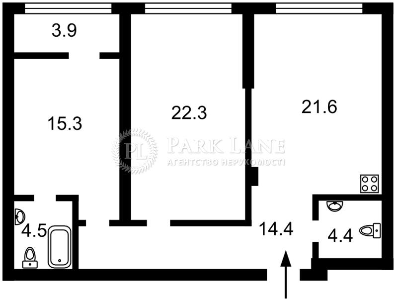 Квартира вул. Бойчука Михайла (Кіквідзе), 41-43, Київ, B-102789 - Фото 2