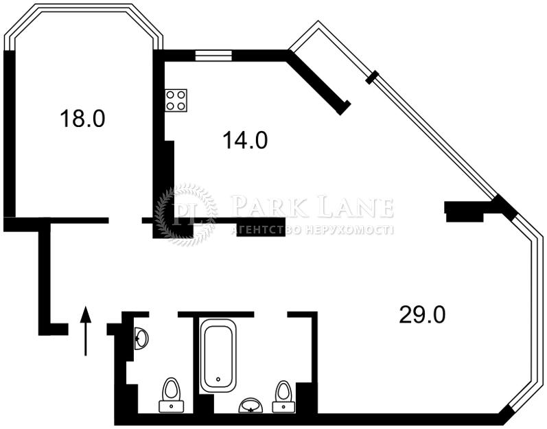 Квартира ул. Болсуновская (Струтинского Сергея), 2, Киев, B-103076 - Фото 2