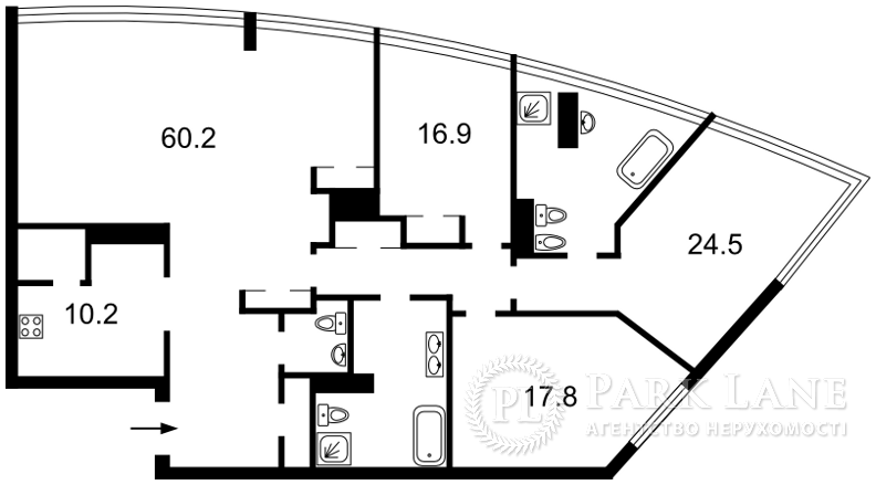 Квартира B-103123, Шевченко Тараса бульв., 30, Киев - Фото 3