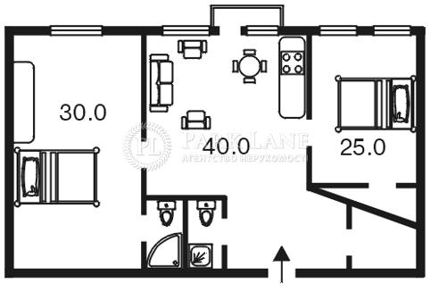 Квартира ул. Городецкого Архитектора, 10/1, Киев, C-71881 - Фото 2