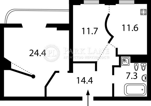 Квартира ул. Татарская, 7, Киев, Z-1586801 - Фото 2