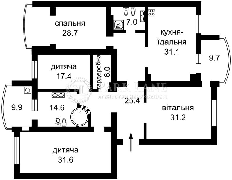 Квартира Героев Сталинграда просп., 10а, Киев, C-80894 - Фото 2