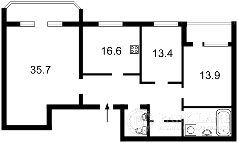 Квартира Бехтеревский пер., 14, Киев, F-24240 - Фото 2