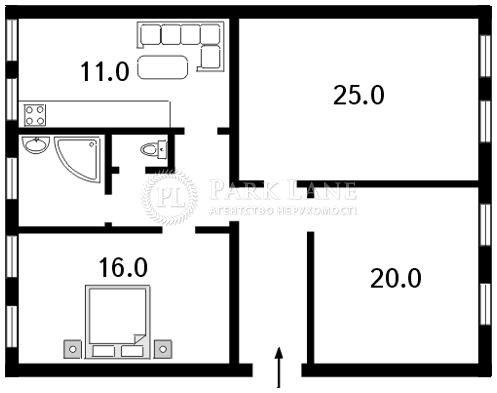 Квартира ул. Хмельницкого Богдана, 9б, Киев, C-62658 - Фото 2